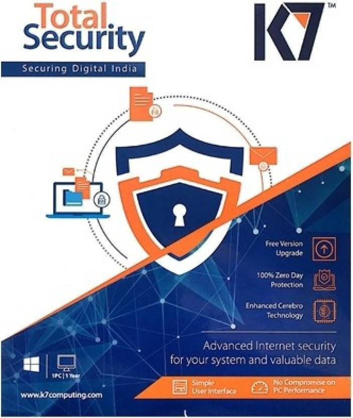 K7 Total Security 5 Pcs 1 Year 2017