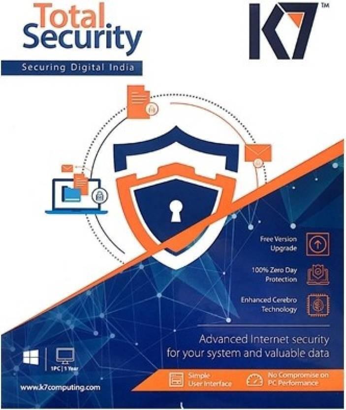 K7 Total Security 3Pcs 1 Year 2017