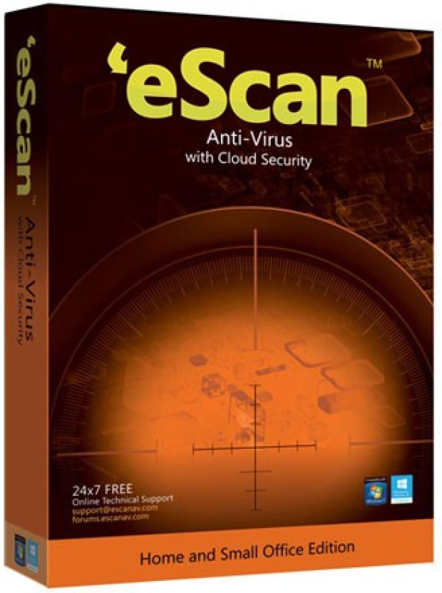 eScan Anti-Virus With Cloud Security 5 Users 1 Year