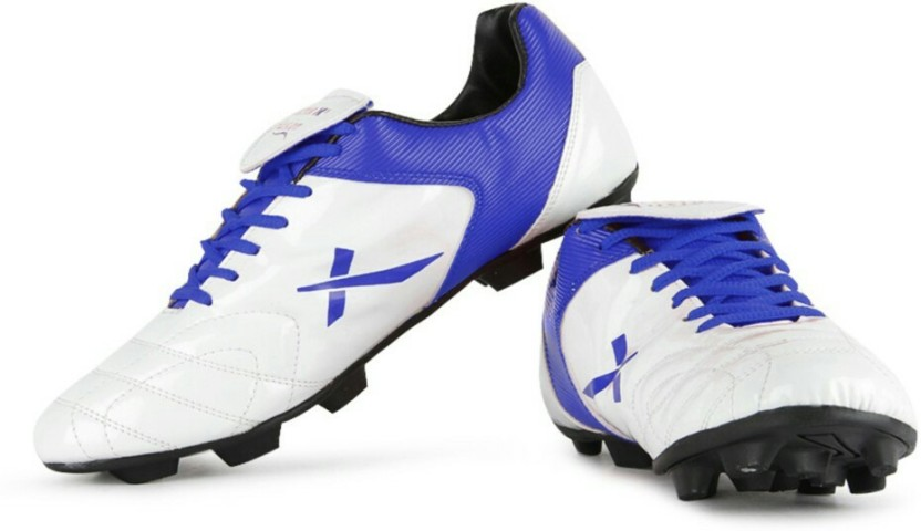 Vector X Fusion White Blue Football Shoes