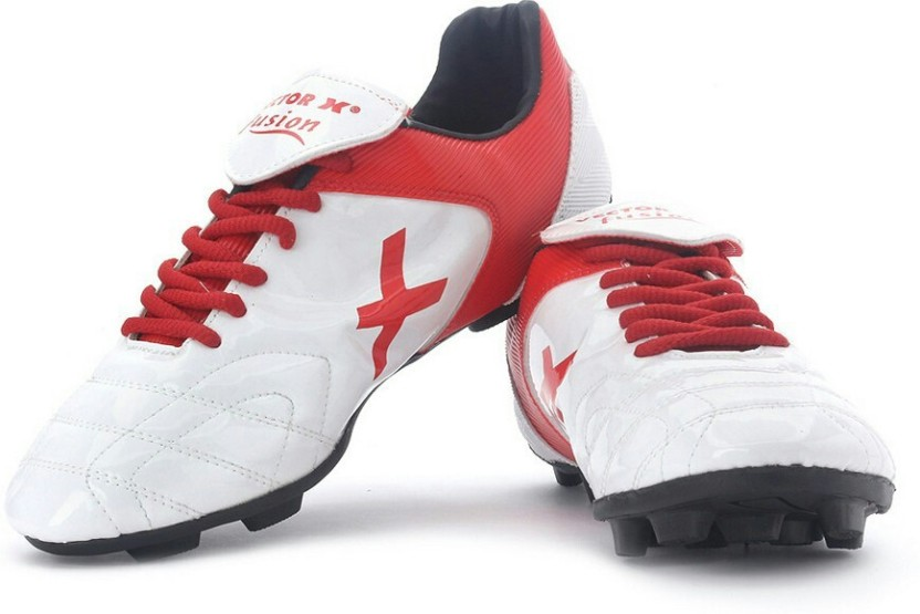 Vector X Fusion White Red Football Shoes