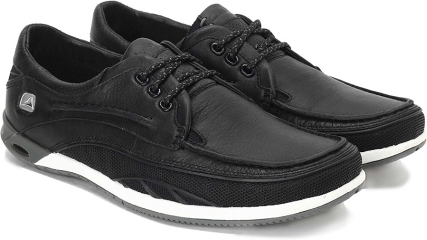 Clarks Orson Lace Black Leather Casual Shoes