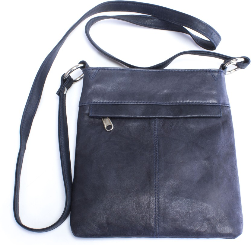 Ess Tee Women Evening/Party, Casual Grey Genuine Leather Sling Bag