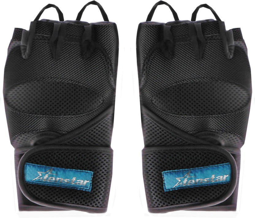 Tenstar TS408_GymGloves_Elite_Black. Gym & Fitness Gloves (Men, Black)