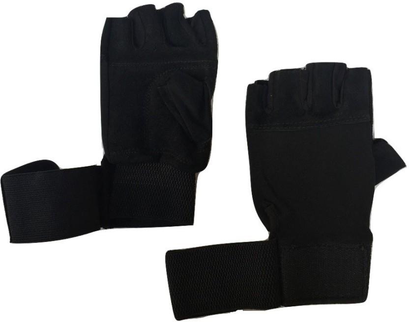 greenbee GLOVES0001 Gym & Fitness Gloves (Men, Black)