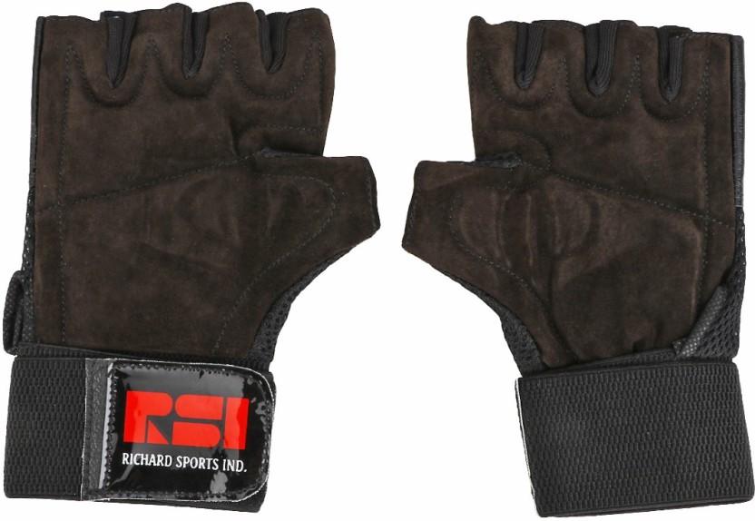 Richard Pride Gym & Fitness Gloves (Men, Black)