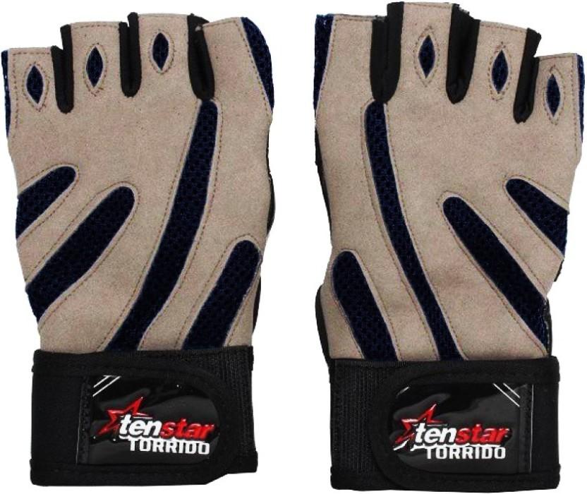 Tenstar TS407 Torrido_Grey Gym & Fitness Gloves (Men, Multicolor)