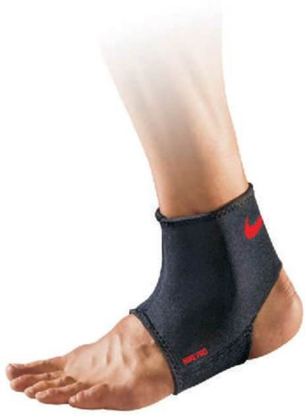 Nike PRO ANKLE SLEEVE Ankle Support (M, Black, Red)