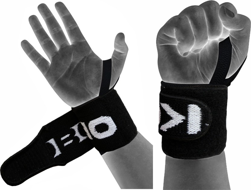Kobo Power Weight Lifting Training Gym Straps With Thumb Wrist Support (Free Size, Assorted)