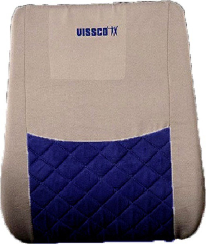 Vissco Smart Backrest Back Support (Free Size, Grey, Blue)