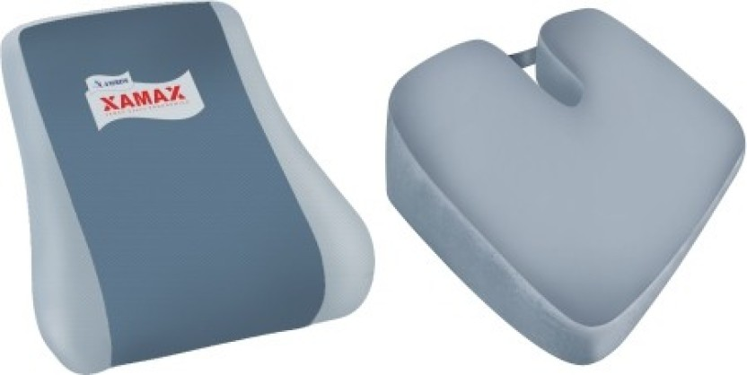 XAMAX BACKREST&COCCYX CUSHION Back Support (Free Size, Grey)