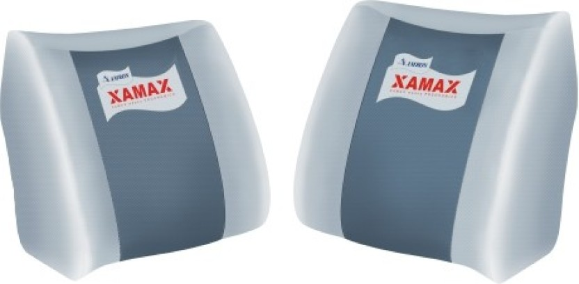 XAMAX BACKREST S N B Back Support (Free Size, Grey)