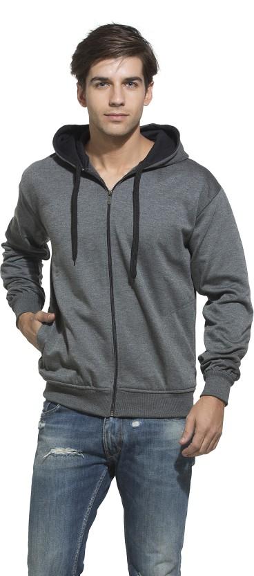 Weardo Full Sleeve Solid Men Sweatshirt