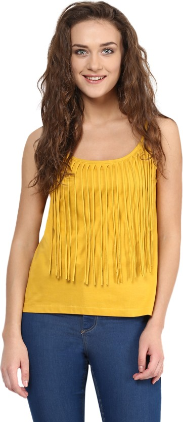 Miss Chase Casual Sleeveless Solid Women