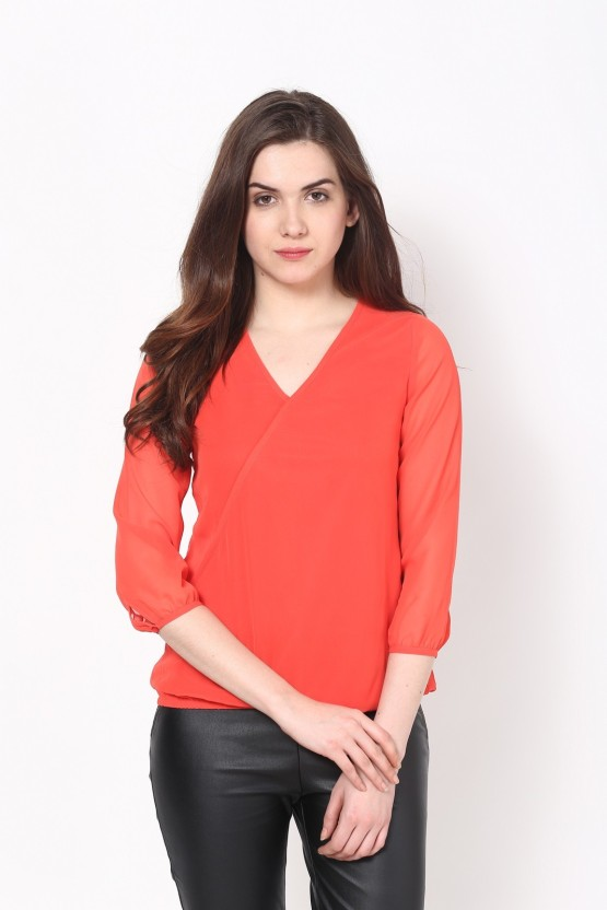 Harpa Casual 3/4th Sleeve Solid Women
