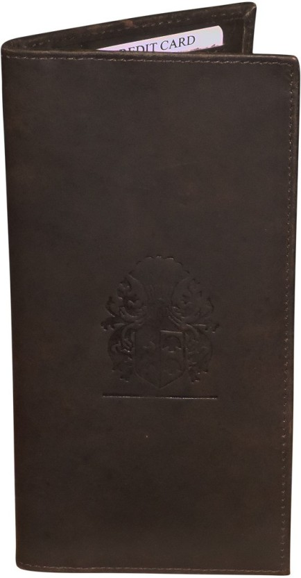 Kan Brown Hunter Leather Travel Document Holder/Organizer with 18 Card Slots For Men and Women