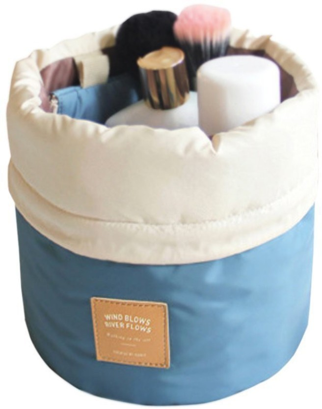 PackNBUY Barrel Shaped Cushioned with Mini Zipper Purse and Transparent Pouch