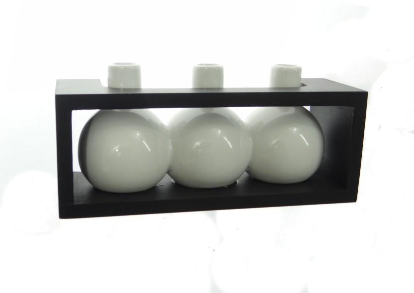 Fourwalls Ceramic, Wooden Vase