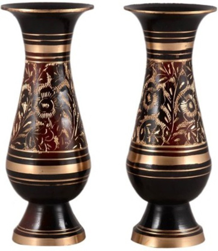 Homestyle India Handcrafted Pair Brass Vase