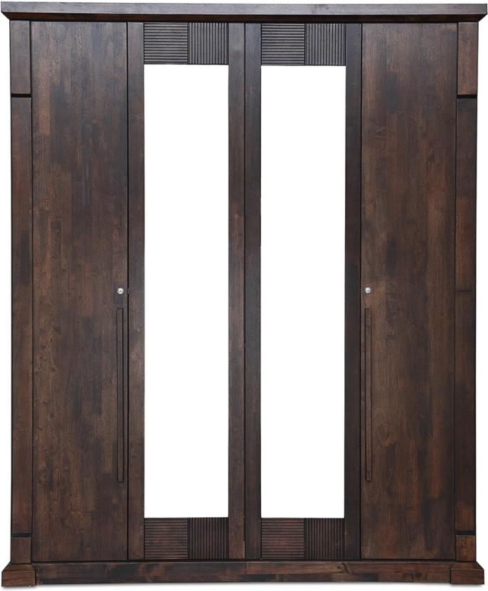 HomeTown �Mondo Engineered Wood 4 Door Wardrobe
