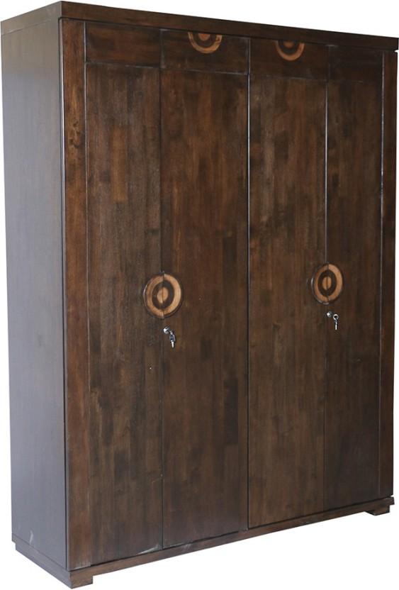 HomeTown Enrique Engineered Wood 4 Door Wardrobe