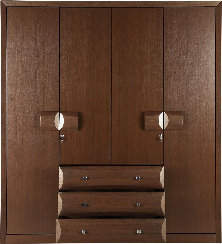 HomeTown Cambry Engineered Wood 4 Door Wardrobe