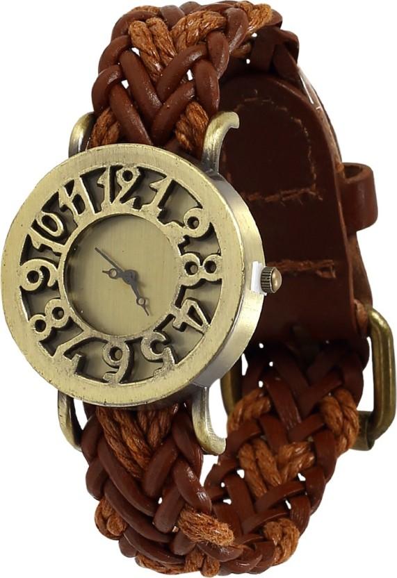 Fancy brown Fusion Watch  - For Men & Women