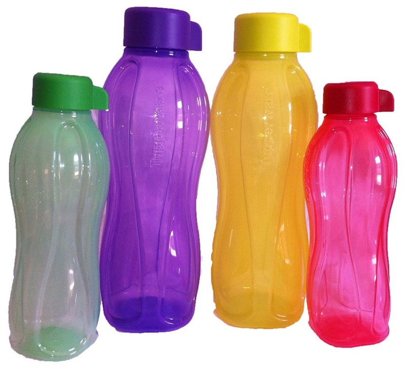 Tupperware Aquasafe Water Bottles Set Of 4,( 2 Pcs 1 Lt ,2 Pcs 500 Ml ) 1000 ml Bottle