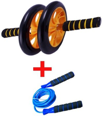 Zenon DOUBLE WHEEL AB ROLLER WITH FREE JUMP ROPE Ab Exerciser