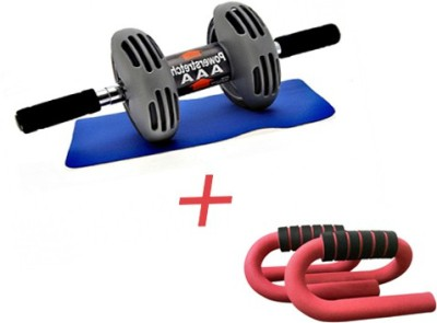 Instafit Power Stretch Roller With Free Mat And 1 Push Up Bar Ab Exerciser