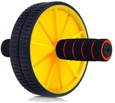 strauss Double Exercise Wheel (Yellow) Ab Exerciser