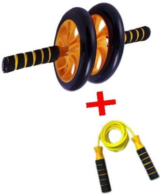 INSTAFIT AB DOUBLE WHEEL ROLLER WITH FREE JUMP ROPE Ab Exerciser