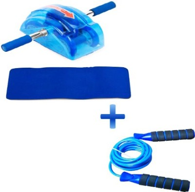 Instafit Ab Slider Roller Abdominal Exercise With Free Mat And Jump Rope Ab Exerciser