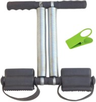 Tummy Trimmer Black Double Spring Resistance Tube Body Waist Fitness Machine Ab Exerciser(Black)