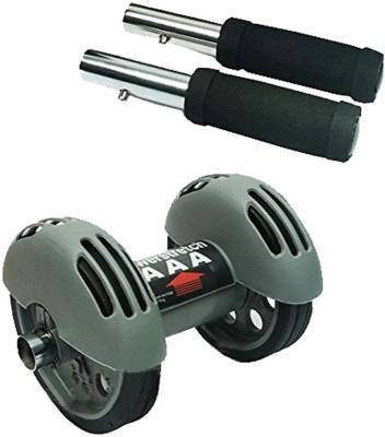 Insasta Dual POwer Wheel Ab Exerciser(Grey)