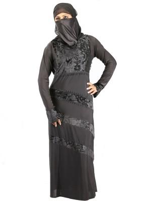 Hawai WB00273 Lycra Self Design Burqa Yes