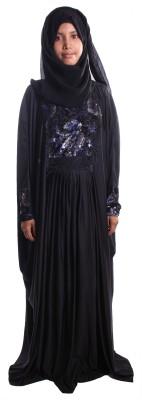 Muslimkart AY9077-10 Lycra Solid Abaya Yes