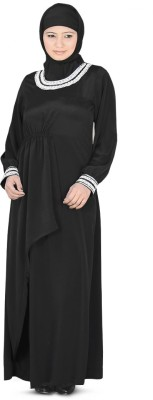 MyBatua AY-137-M Crepe Self Design Abaya Yes