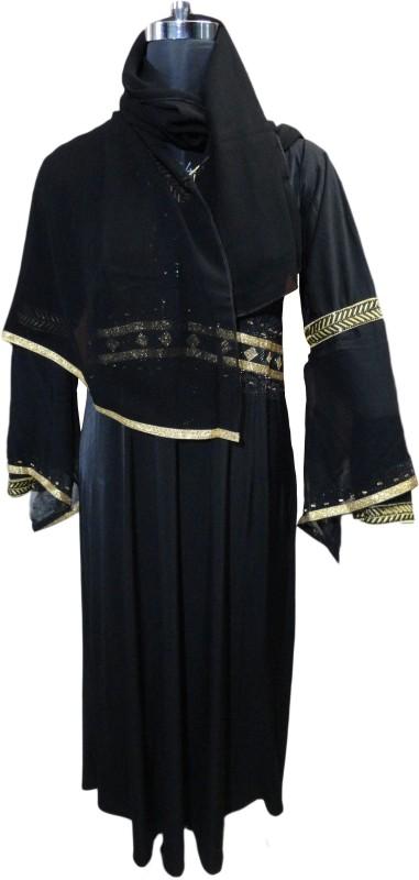 Justkartit JK4368 Lycra Burqa With Hijab(Black)