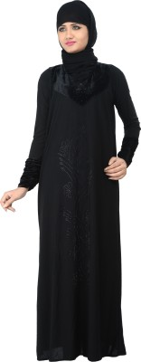 Nargis NARB16 Lycra Crepe Self Design Burqa Yes