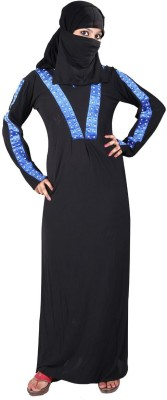 Hawai WB89 Lycra Self Design Burqa Yes
