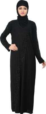 Nargis NARB7 Lycra Crepe Self Design Burqa Yes