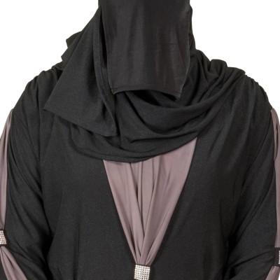 Just Khatoon ABA004ABA Lycra Soft, Valvet Burqa Yes