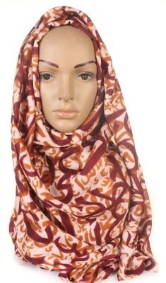 Muslimkart HJ6818BM Viscose Geometric Print Abaya No