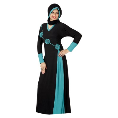 Saree Exotica AB14280 Lycra Printed Abaya No