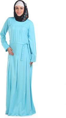 Momin Libas AC5914 poly crepe Solid Abaya No