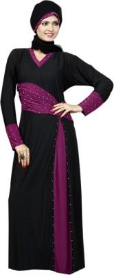 Saree Exotica 14470 Lycra, Crepe Self Design Abaya Yes