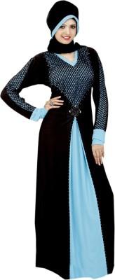 Saree Exotica 14390 Lycra, Crepe Self Design Abaya Yes