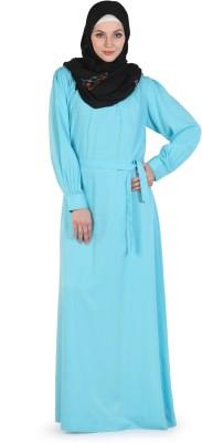 Momin Libas A 14-14 Polycrepe Abaya No(Blue)