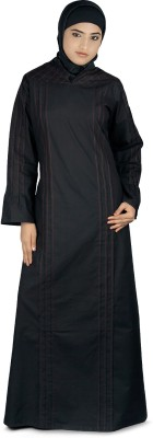 MyBatua AY-227-M Poplin Self Design Abaya Yes